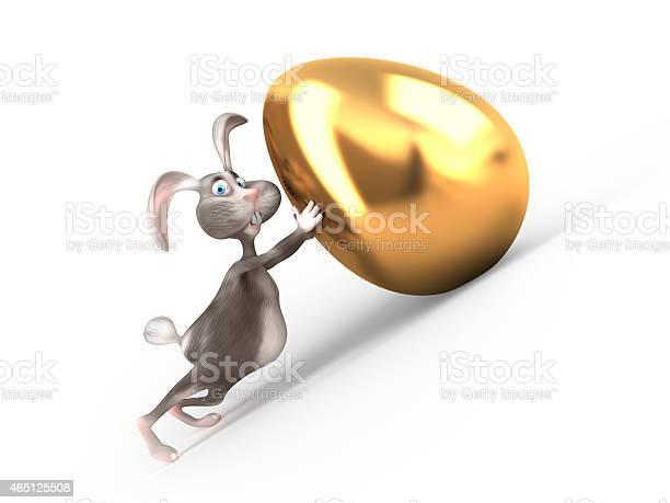 Cartoon easter bunny holds giant gold egg picture id465125508?b=1&k=6&m=465125508&s=612x612&h=4ocxkfapromf9zcajbvf17mvkhvba3zn0d24grezqoi=