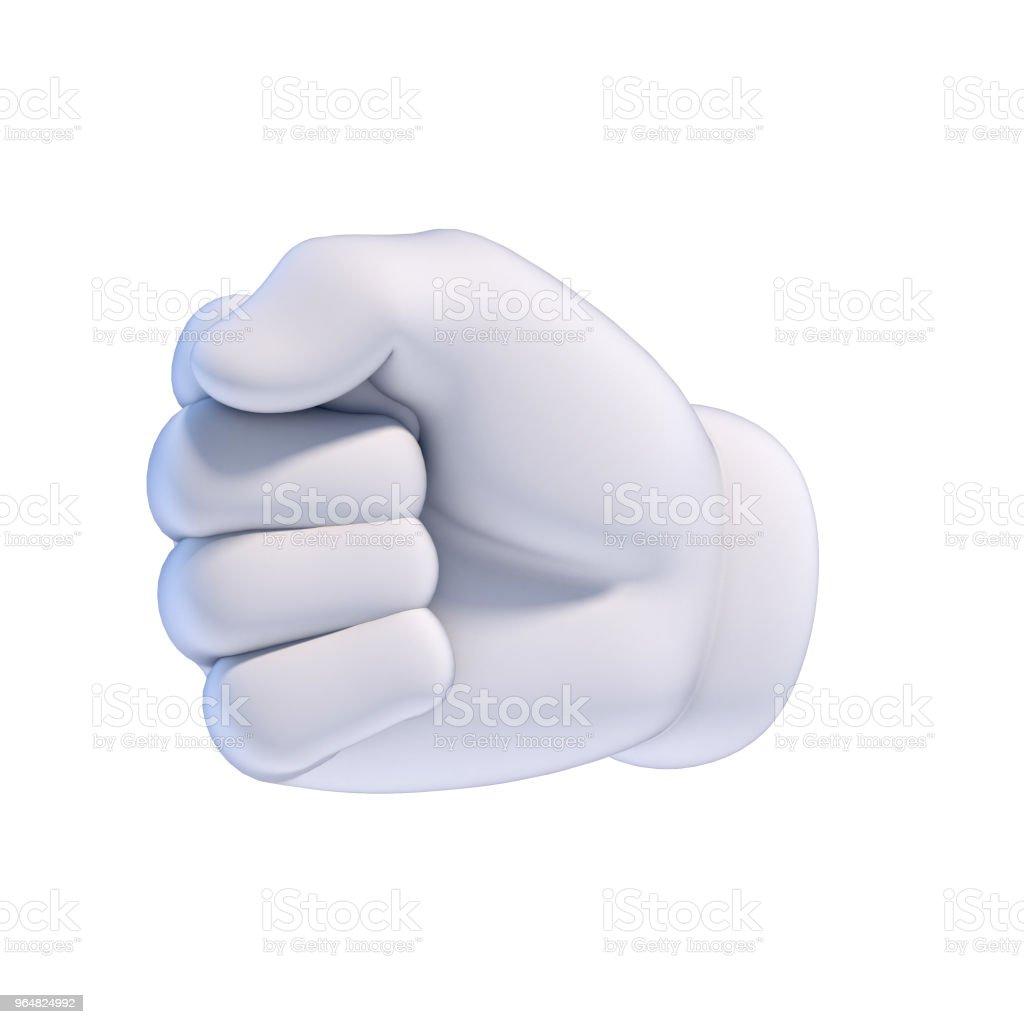 Conjunto de mãos dos desenhos animados - punho renderização em 3d - Foto de stock de Agarrar royalty-free