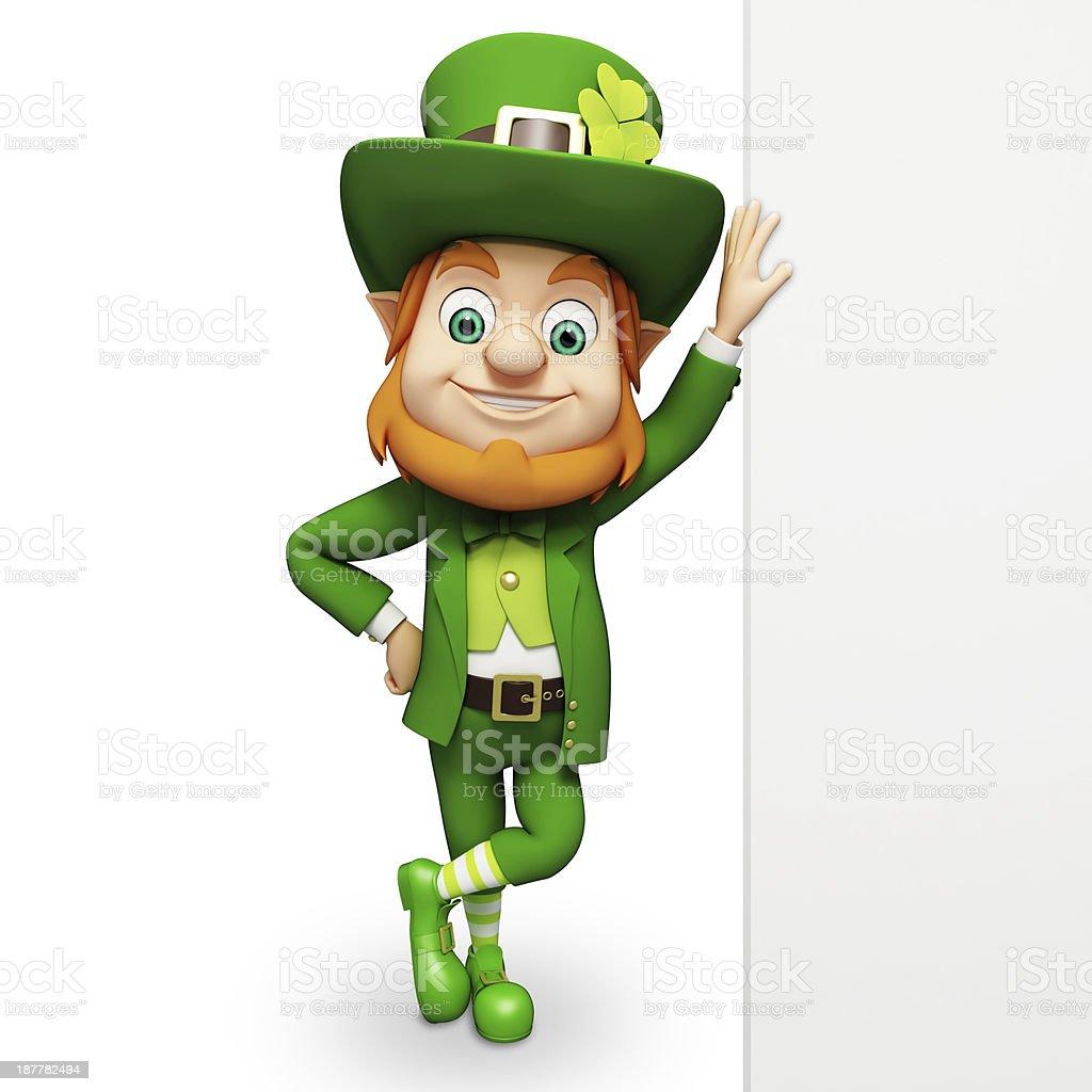 Cartoon image of St Patrick's day leprechaun stock photo