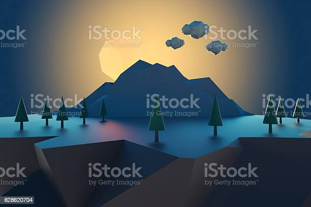 Cartoon low poly floating island at sunset picture id628620704?b=1&k=6&m=628620704&s=612x612&h=ifqh1dswbri0s jhupih7fypzhwlxo6qoh7o7i2mm78=
