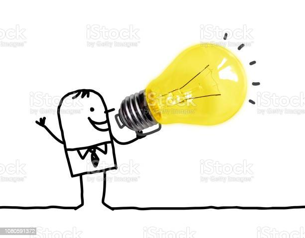 Cartoon man using a big light bulb as a loudhailer picture id1080591372?b=1&k=6&m=1080591372&s=612x612&h=kak czkeo1h66s8cjxv0tkhwmqulx0ppovgfasf09os=