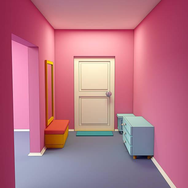 cartoon marina's hallway - dielenkommoden stock-fotos und bilder