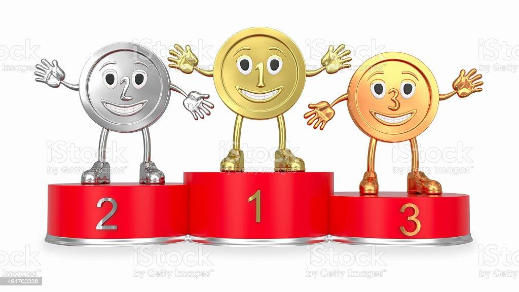 Foto de medalhas de desenho em vermelho podium fachada e - Dessin podium ...