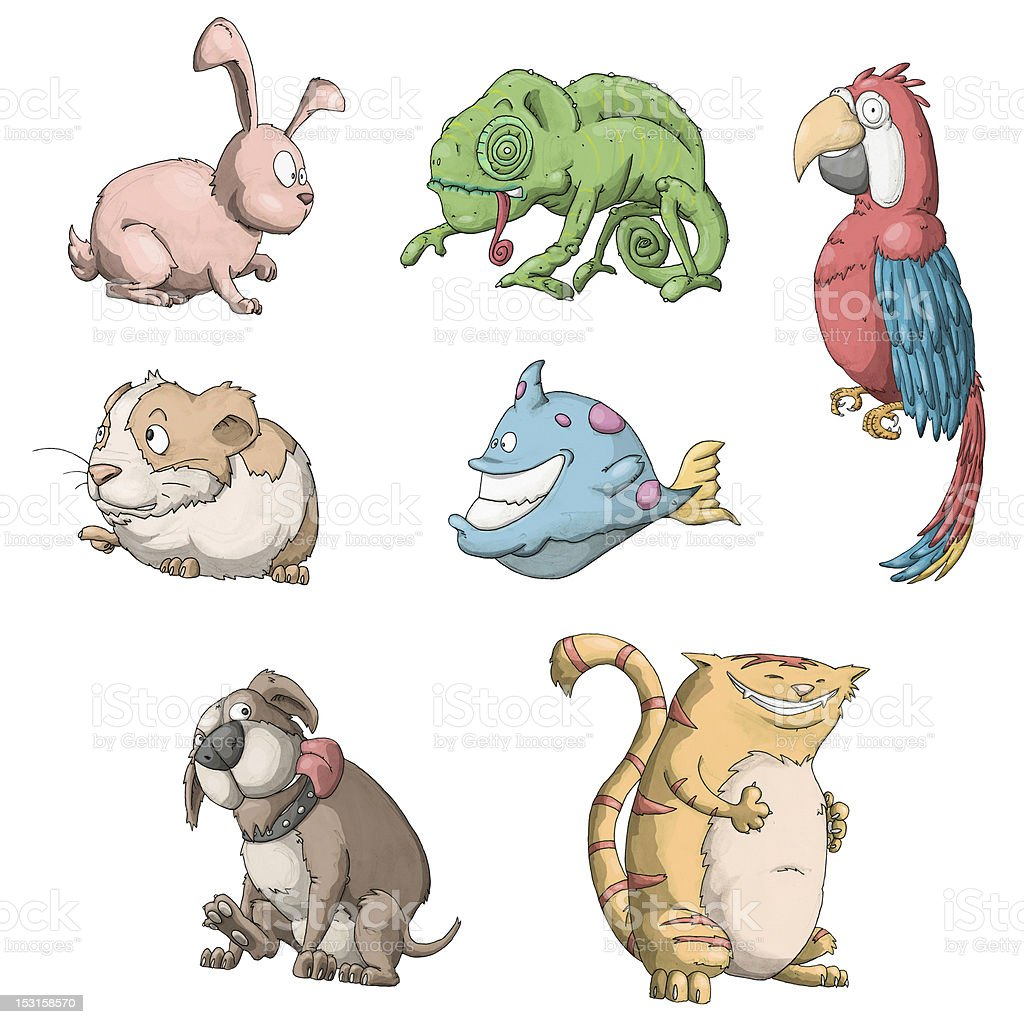 Cartoon Pet Store Animals Stock Photo - Download Image Now - iStock