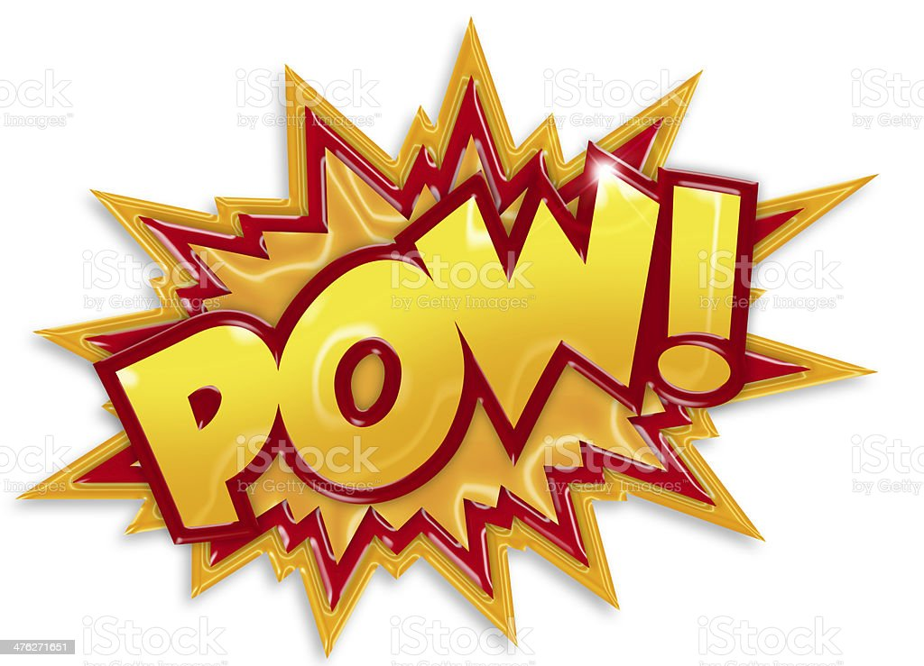 cartoon pow stock photo