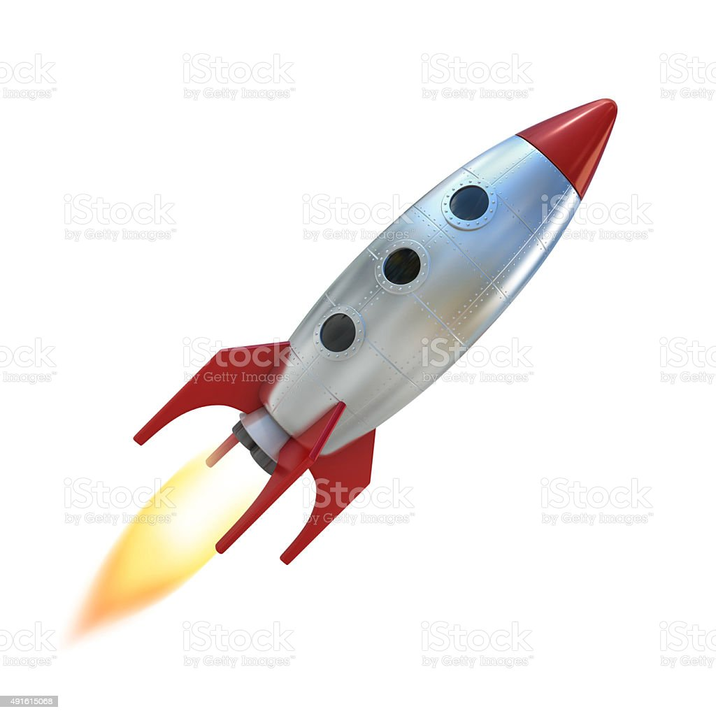 Cartoon Rocket Space Ship Stock Photo & More Pictures of ...
