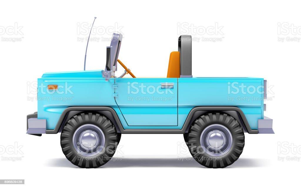 Cartoon Safari Suv blaue Seite – Foto