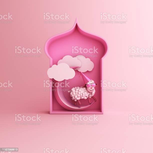 Cartoon sheep arabic window cloud crescent moon on pink pastel copy picture id1162066613?b=1&k=6&m=1162066613&s=612x612&h=05jgglviv3coajs4rd rmo9tyt4mc0fddjpukhxxdrk=