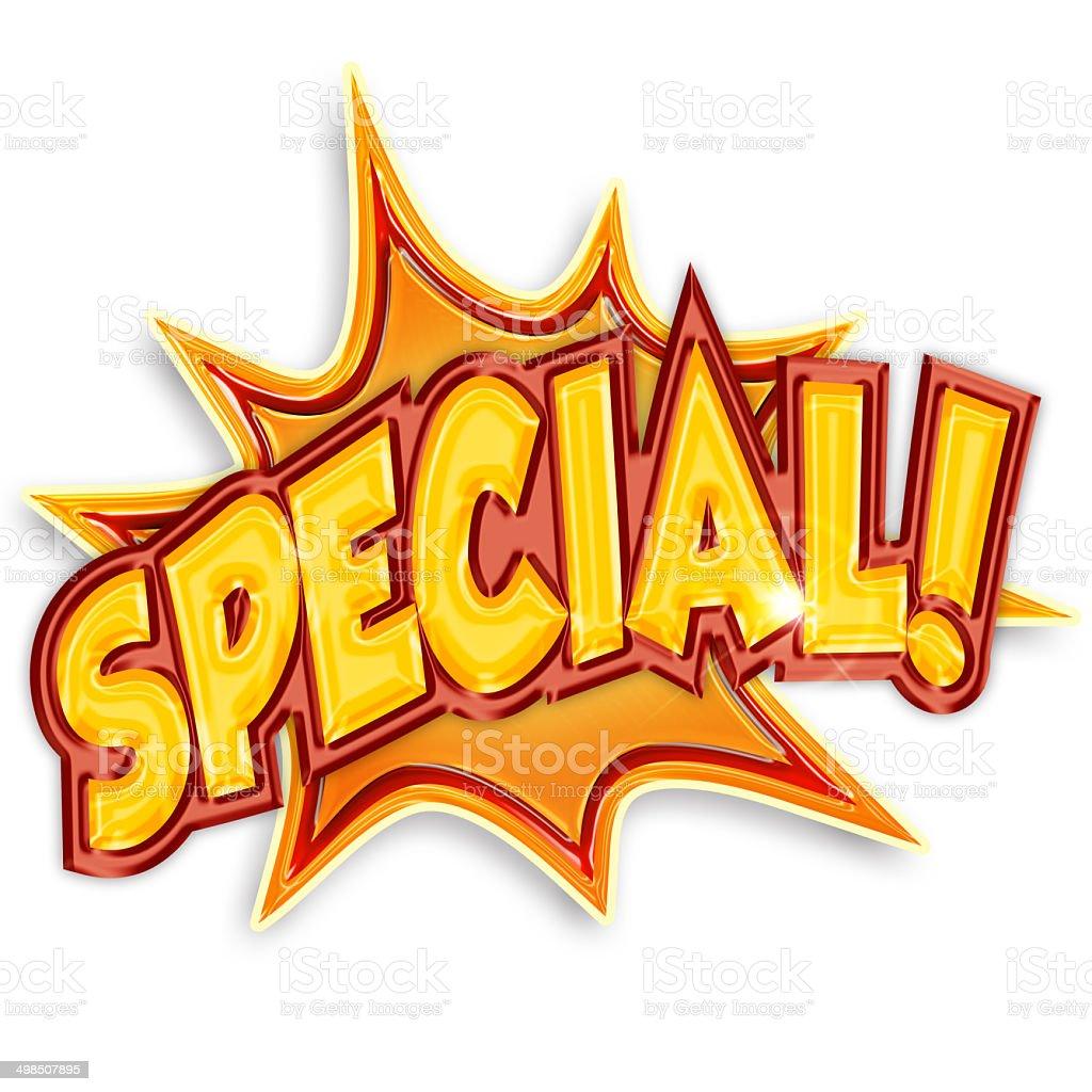cartoon special stock photo