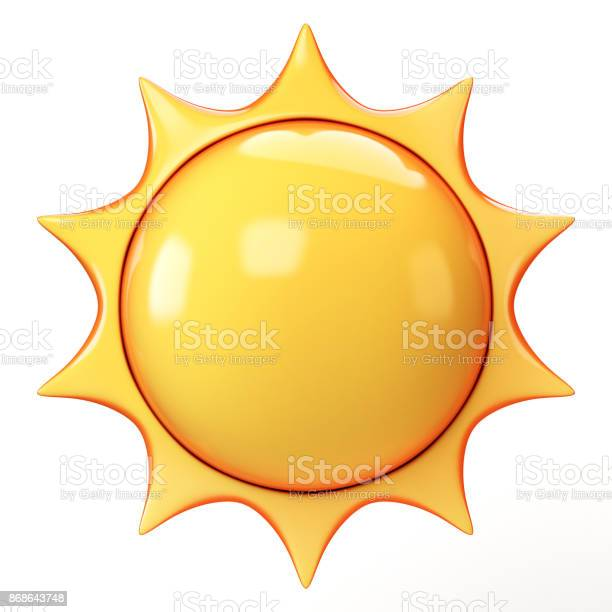 Cartoon sun emoji isolated on white background sunshine emoticon 3d picture id868643748?b=1&k=6&m=868643748&s=612x612&h=2izorg0loepatxn2adcvuyoonj aqc8twcmpjszzisa=