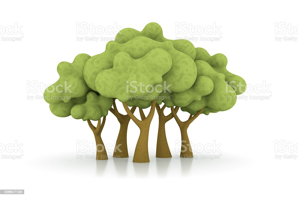 cartoon trees stock photo