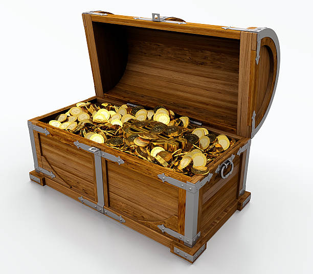 Cartoon wooden treasure chest filled with gold coins picture id179533590?b=1&k=6&m=179533590&s=612x612&w=0&h=lembsvbsx6a fpgyb4be0tamrxrqfzhq0 ahxkmxiae=
