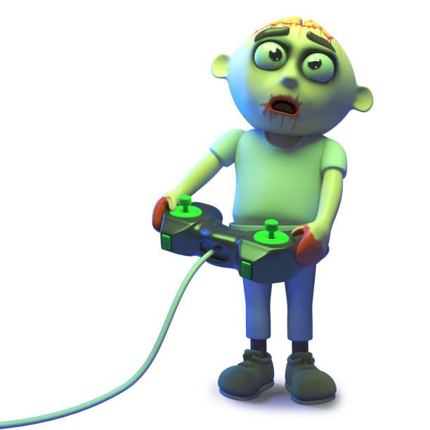 Cartoon zombie monster is playing a scarey videogame 3d illustration picture id1162156400?b=1&k=6&m=1162156400&s=612x612&w=0&h=rd2fysilj3pmurjdwiyh9otok5hvft5c qlop26pohk=