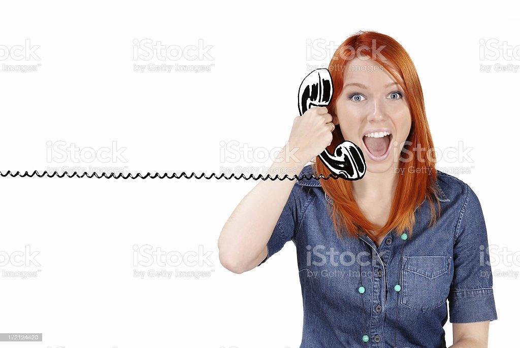 Cartoon_Funny phone royalty-free stock photo