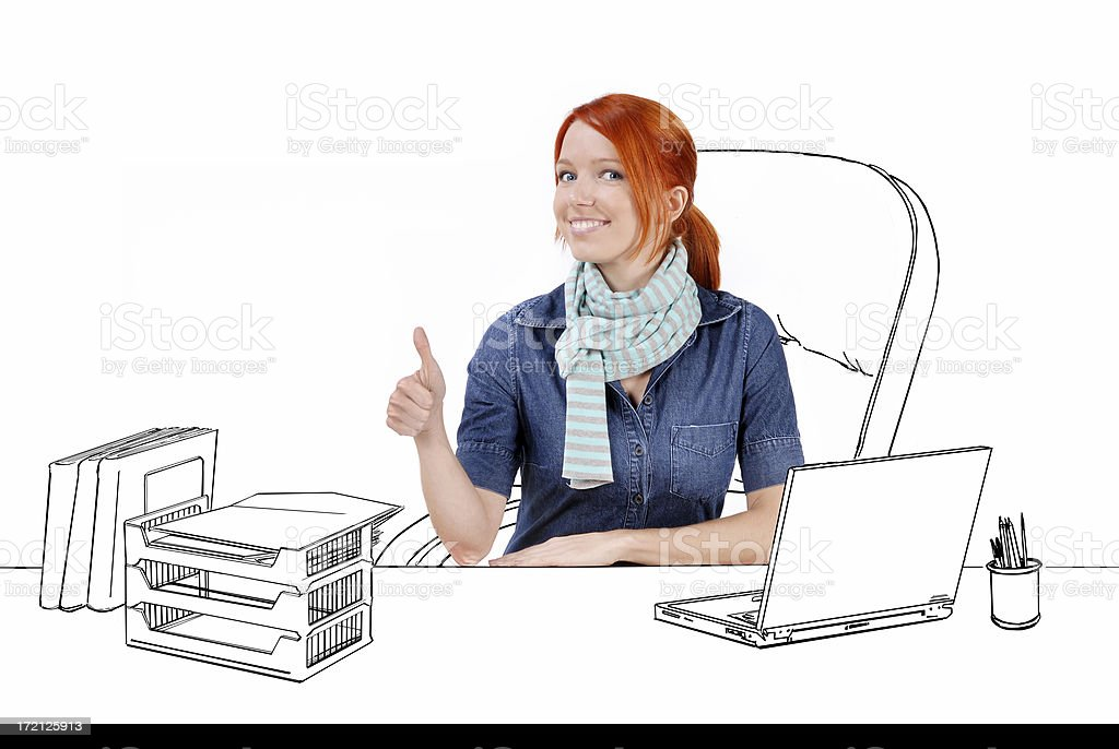 Cartoon_Proffesional worker royalty-free stock photo