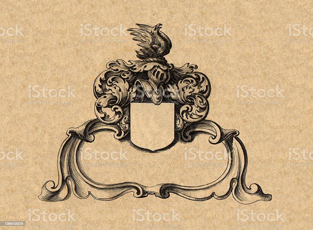 Cartouche stock photo