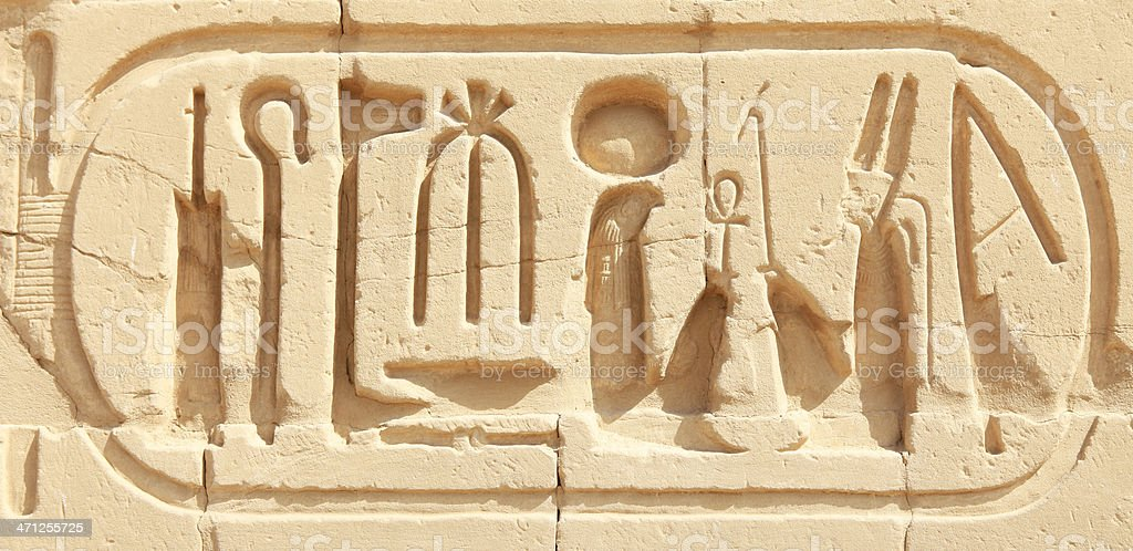 Cartouche - Ramesses VI royalty-free stock photo