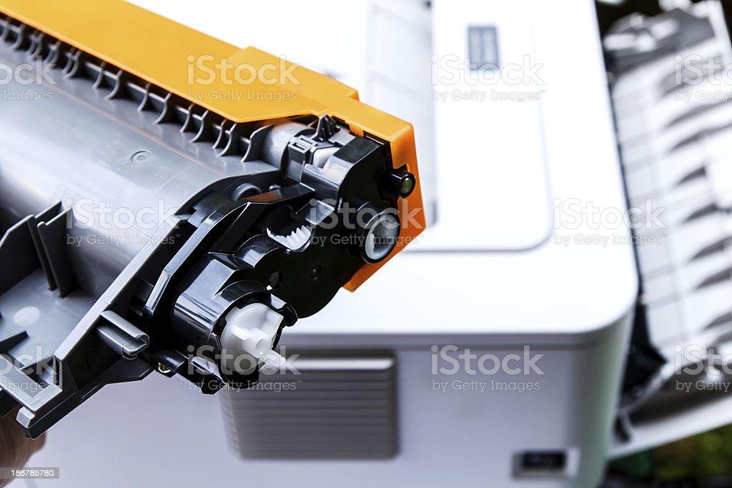 Patrone für einen Laserdrucker – Foto