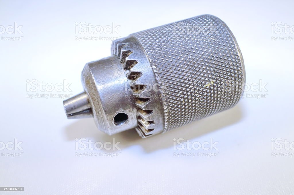 cartridge for the drill, it is inserted and fixed drills stock photo