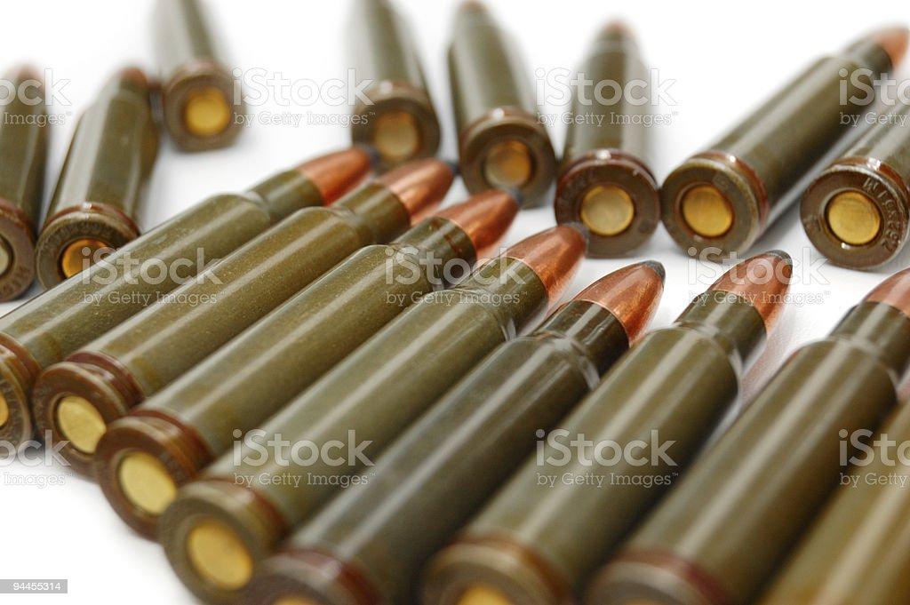 AK-47 (7.62 mm) cartridge royalty-free stock photo