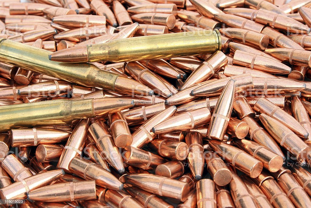 Cartridges and Bullets royalty-free stock photo