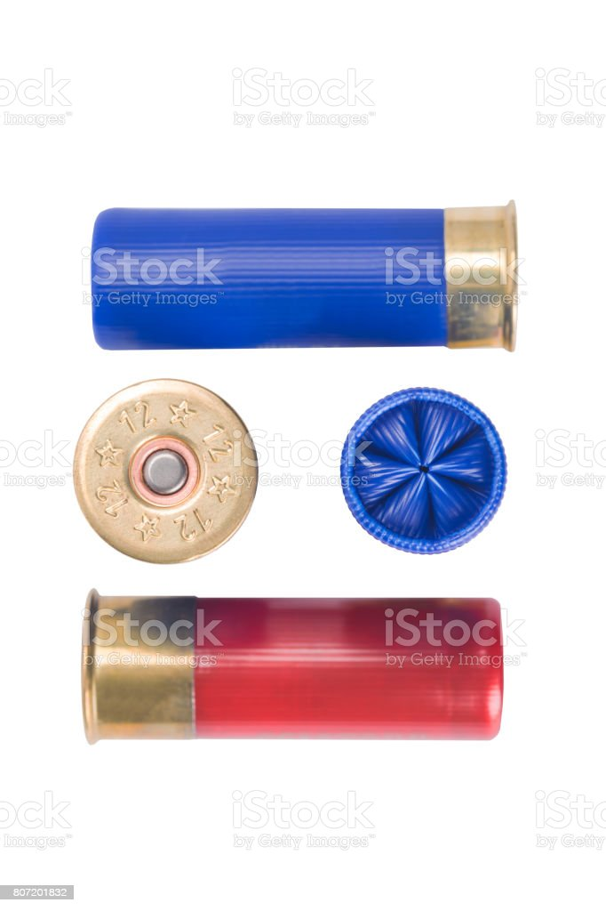cartridges for hunting rifle, concept on white background stock photo