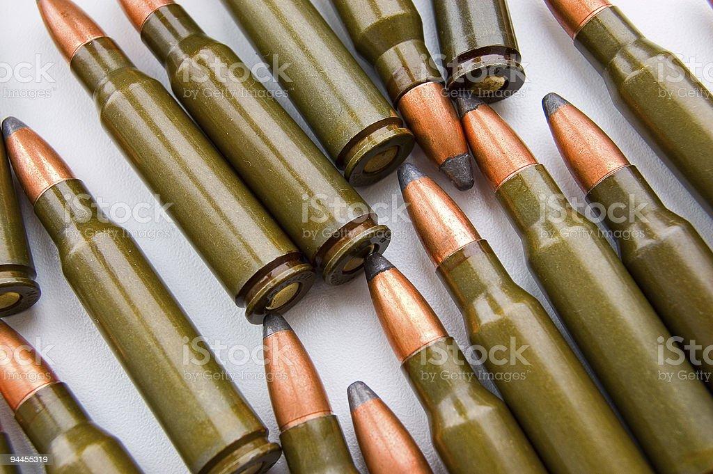 AK-47 cartridges royalty-free stock photo