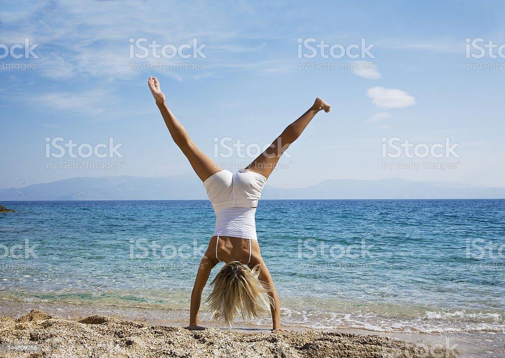 cartwheel stock photo