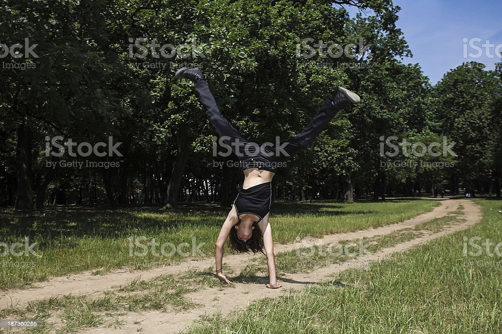 Cartwheel royalty-free stock photo
