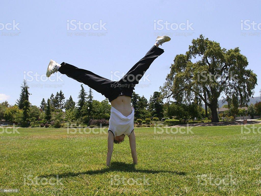 Cartwheel - Royalty-free Acrobat Stock Photo