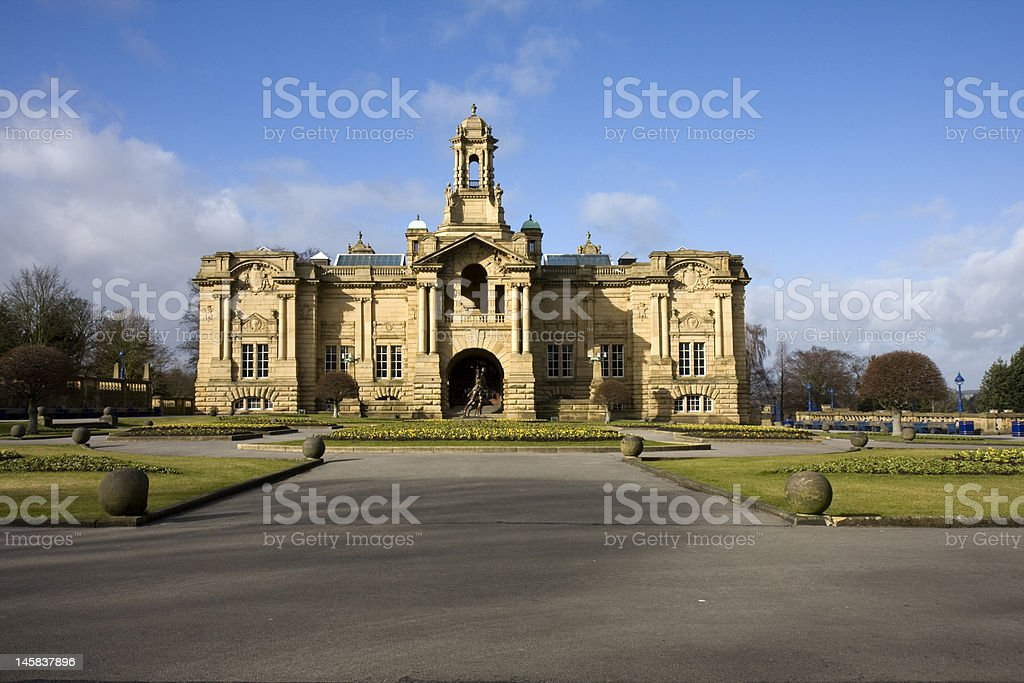 Cartwright Hall , Bradford, UK stock photo