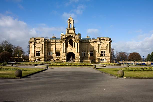 Cartwright Hall , Bradford, UK stock photo
