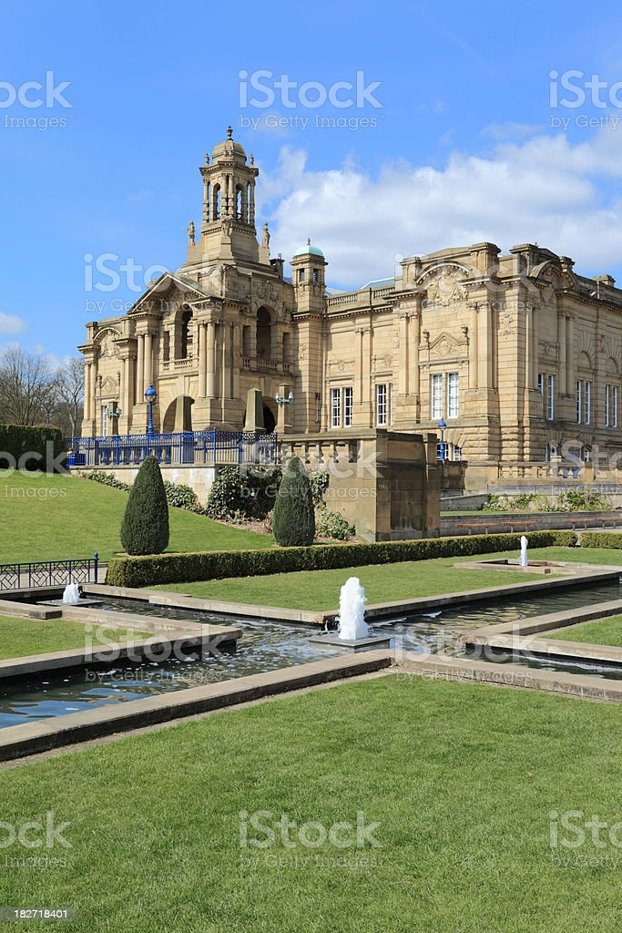 Cartwright Hall in Lister Park Bradford royalty-free stock photo