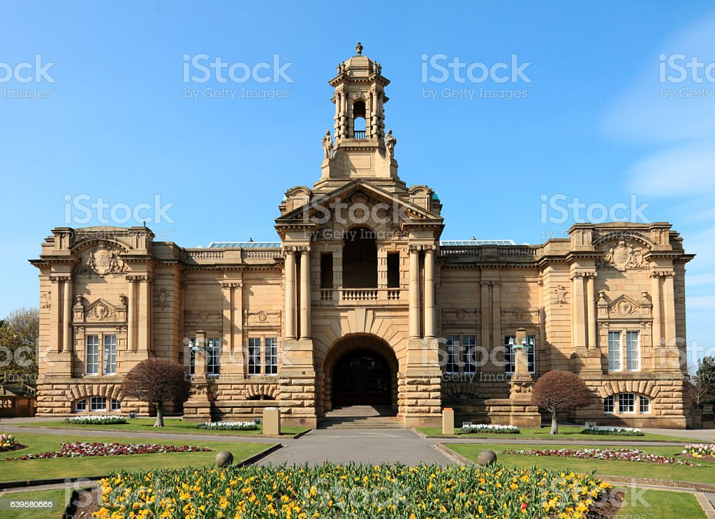 Cartwright Hall in Lister Park Bradford stock photo