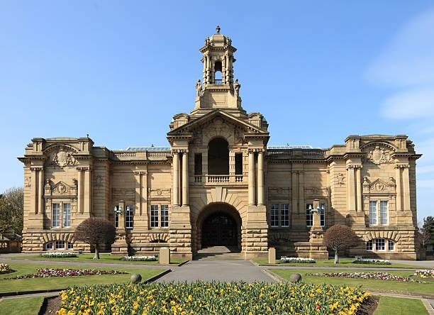 Cartwright Hall in Lister Park Bradford stock photo