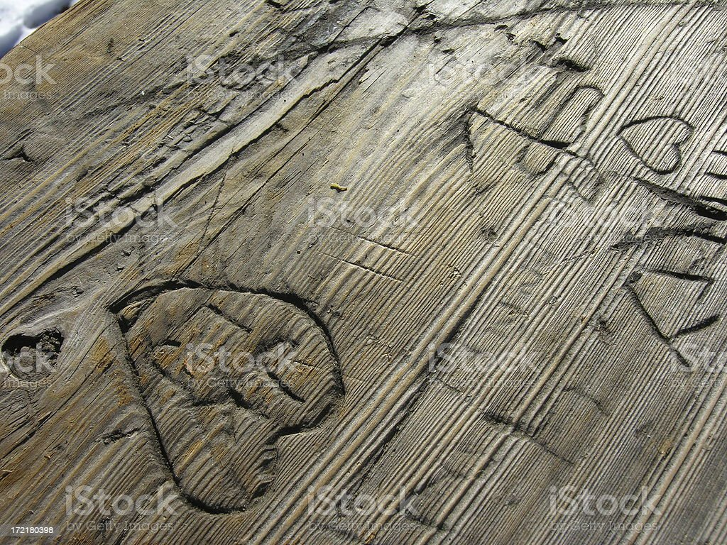 Carved Bench Texture royalty-free stock photo
