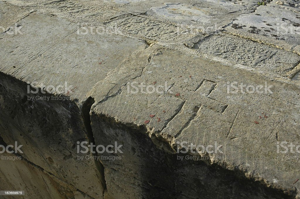 Carved Cross royalty-free stock photo
