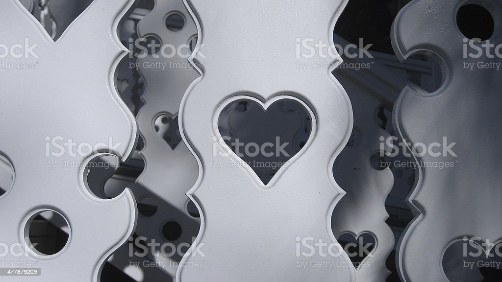 Carved Heart stock photo