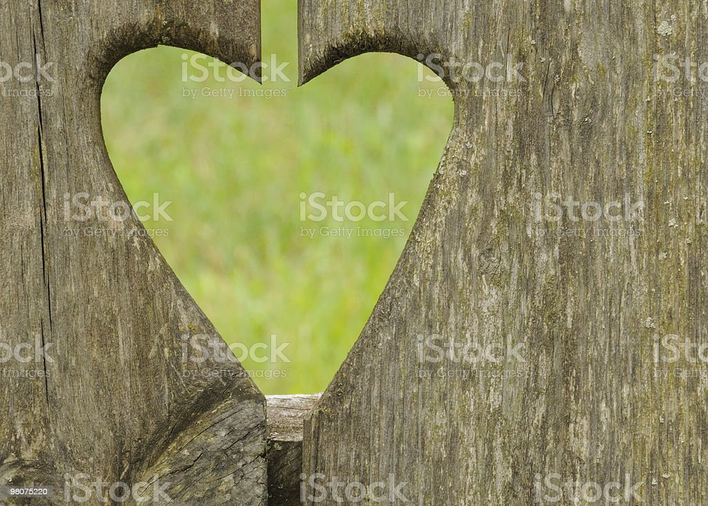 Carved heart royalty-free stock photo