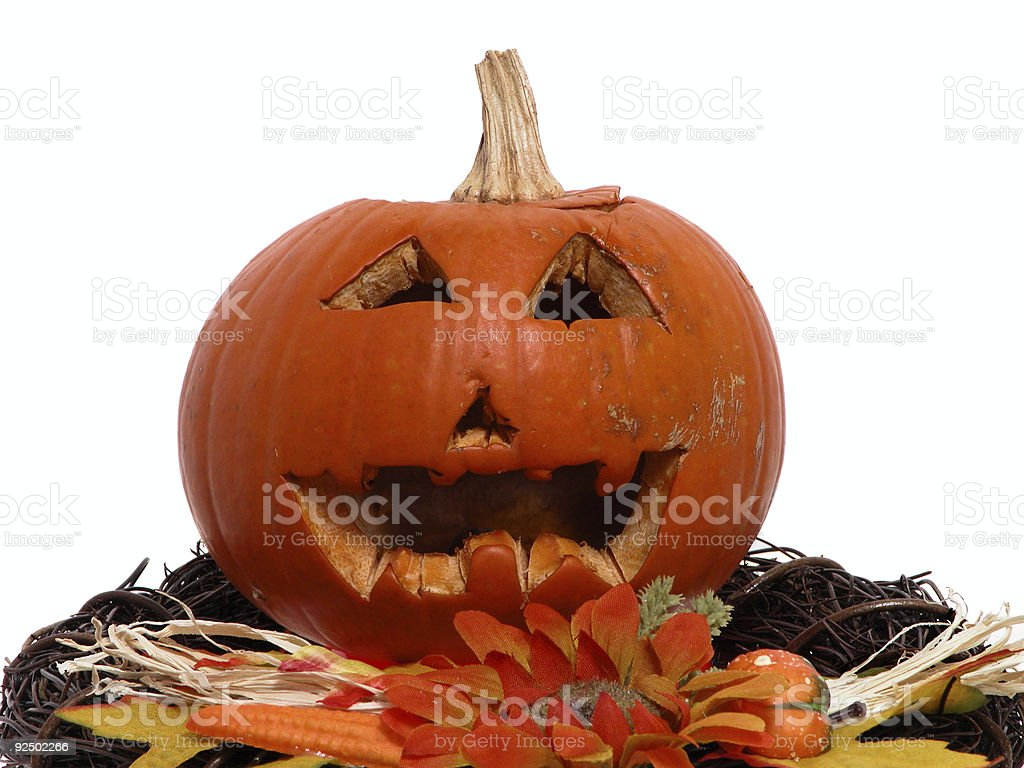 Carved Little Pumpkin royalty-free stock photo