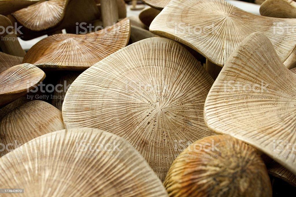 Carved Mushrooms stock photo