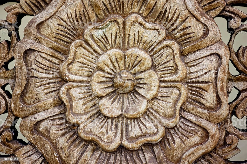 Carved Rose Motif Stock Photo Download Image Now Istock