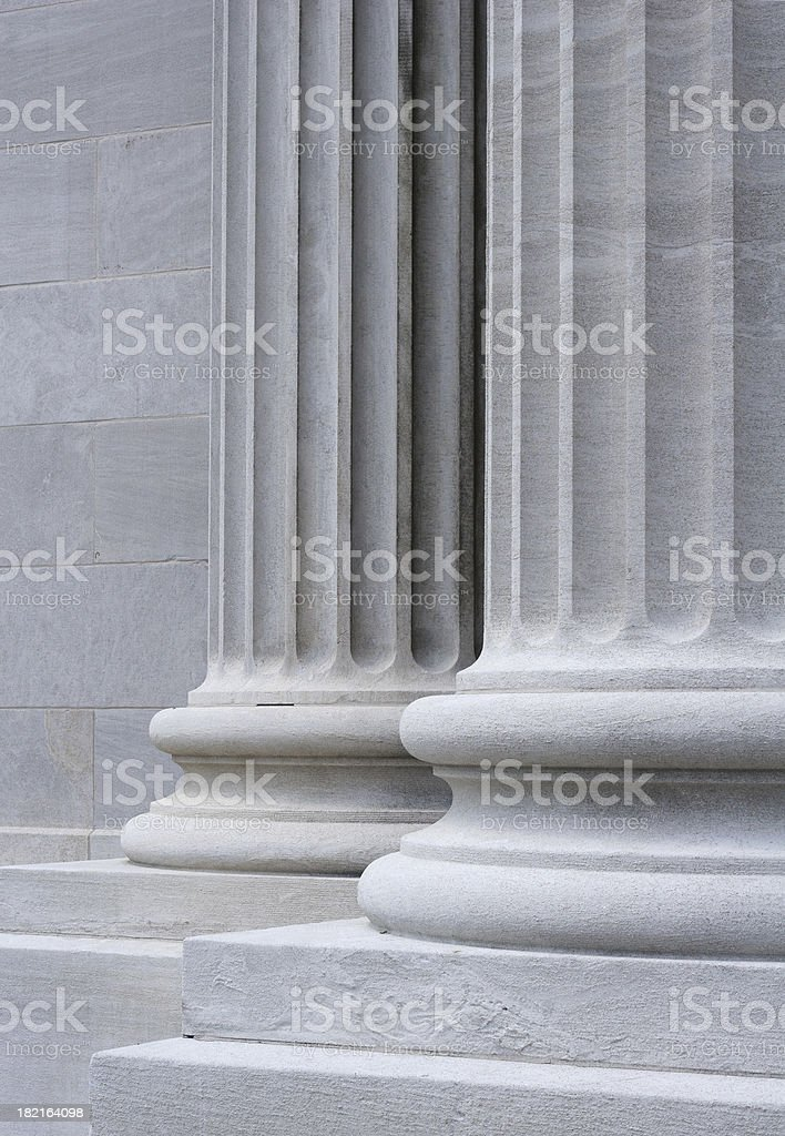 Carved Stone Collumns royalty-free stock photo