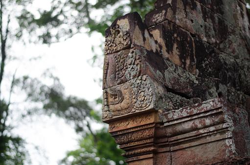 istock Carved stones in Bantai Srei temple, Cambodia 1139125108