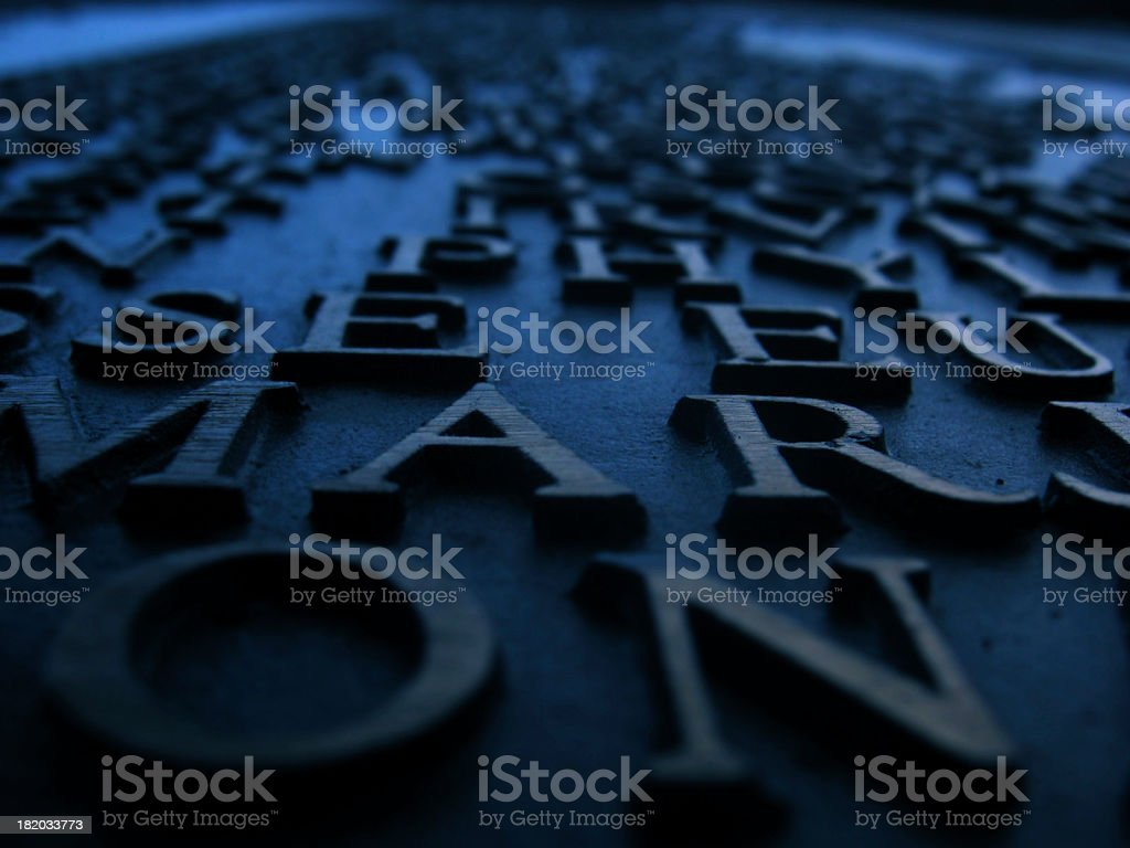 Carved Words stock photo