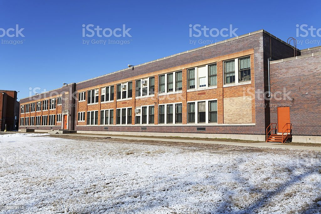 Carver Primary School in Atgeld Gardens, Riverdale, Chicago royalty-free stock photo