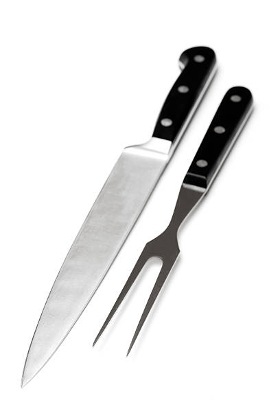 Carving knife set Carving knife set carving knife stock pictures, royalty-free photos & images