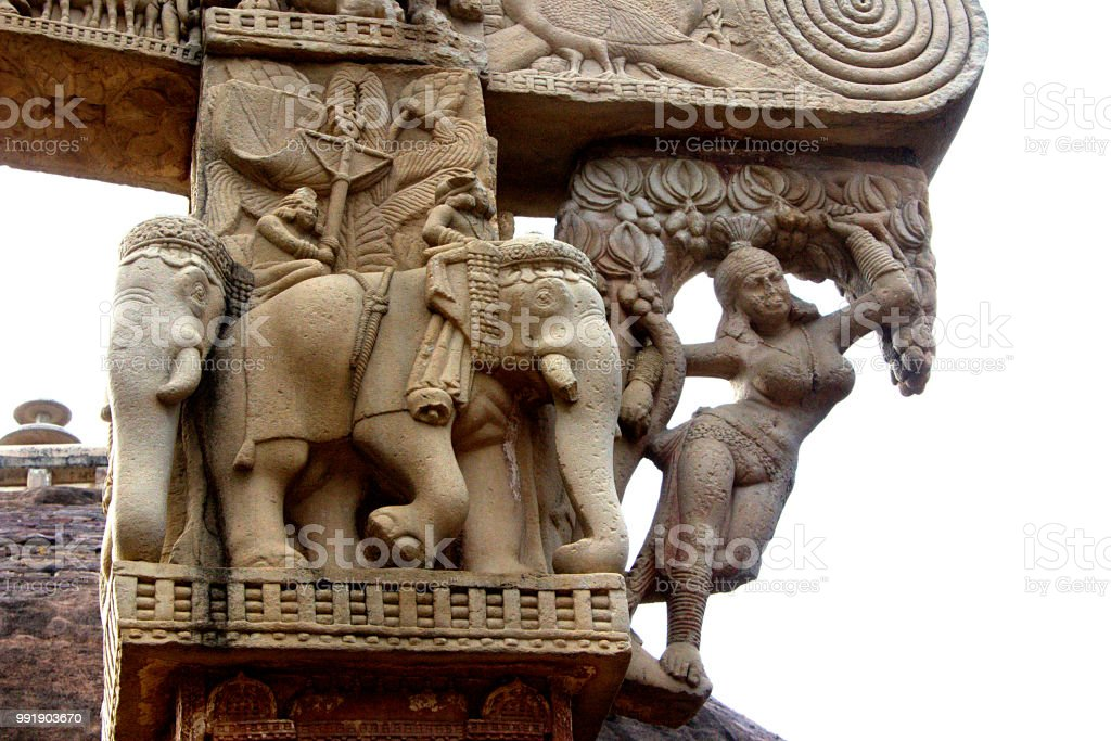 carving on gateway of stupa sanchi stock photo more pictures of