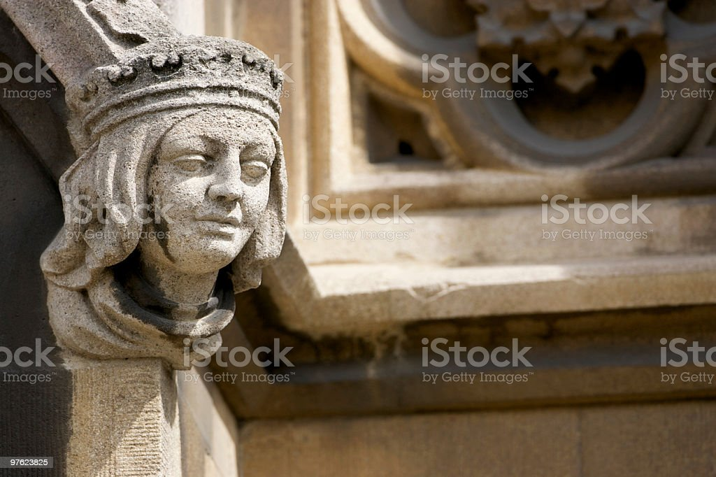 Carving on side of Church royalty-free stock photo