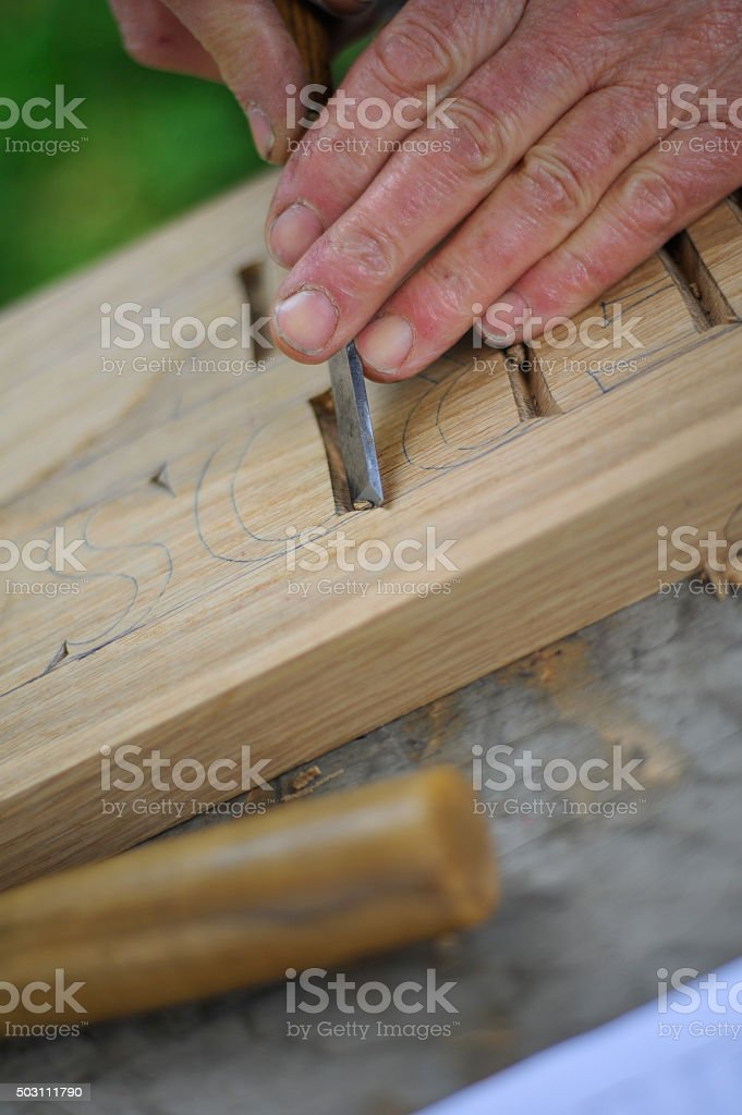 Carving stock photo